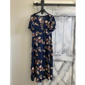 SHEIN wrap maxi dress